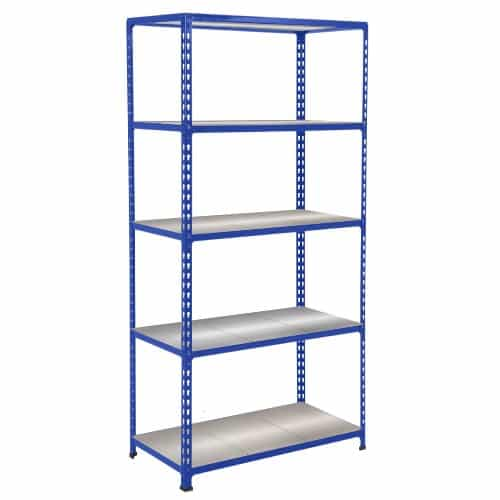 GS340 Shelving - 5 Galvanized Shelves 1600h x 1525w