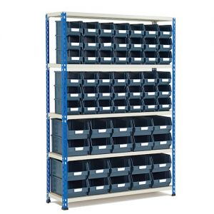 GS340 Shelving 1600h x 1120w - 62 Picking Bins