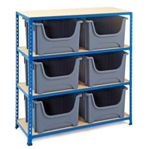 GS340 Shelving with 6 Pickmaster Boxes - 1220h x 1120w