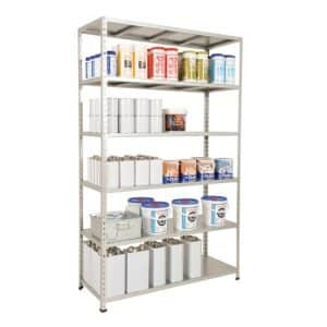 GS340 Galvanized Shelving Bay 1980h x 1220w - 6 Galvanized Shelves
