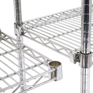 Pair of Additional Chrome Shelves - 915w x 355d