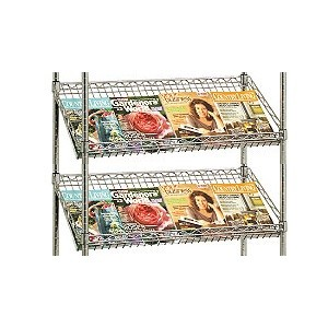Pair of Chrome Magazine Shelves