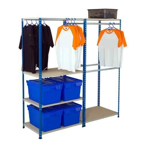 GS340 Shelving - Garment Racking 3048h Free Standing - 3 Levels