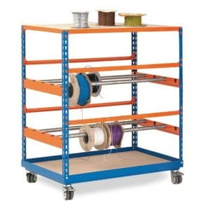 GS340 Shelving - Mobile Reel Rack 1090h x 915w - 2 levels