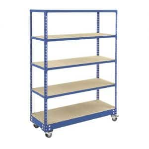GS340 Shelving - Trolley Shelving 1700h x 1220w - 5 levels