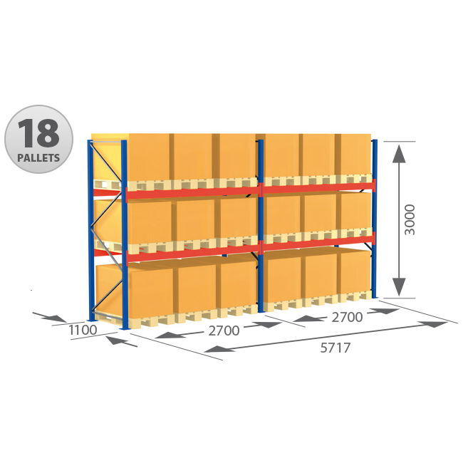 Pallet Racking Complete Systems – 18 Pallets