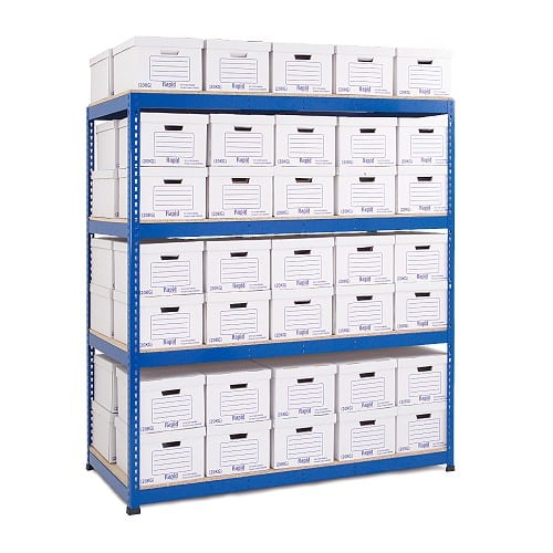 GS800 Double Sided Archive Storage - 50 Boxes