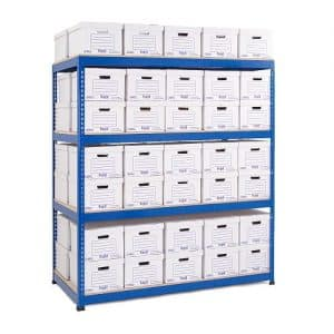 GS800 Double Sided Archive Storage - 70 Boxes