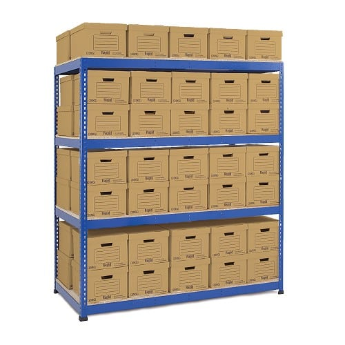 GS800 Double Sided Archive Storage - 80 Boxes