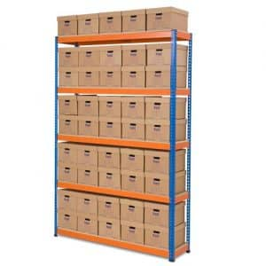 GS800 Archive Storage Bay 45 boxes 2743h x 1830w