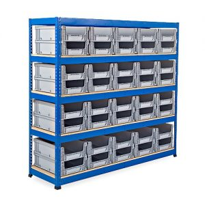 GS800 Shelving - 40 Open Fronted Eurocontainers