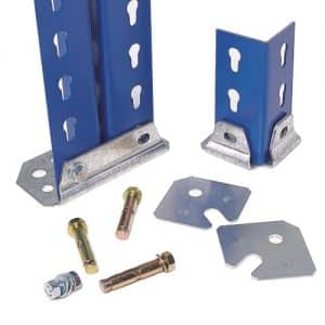 GS800 Shelving - Floor Fixing Kit Double Foot