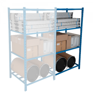 Add On Heavy Duty Tubular Shelving - 5 Shelves 2000h x 1260w
