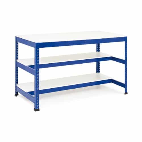 Heavy Duty Workbenches - Two Lower Half Shelf