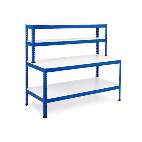 Heavy Duty Work Stations - T - Bar Support With Full Shelf