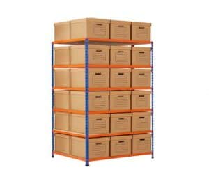 GS340 Shelving Document Storage Bays - Double Sided - 36 boxes