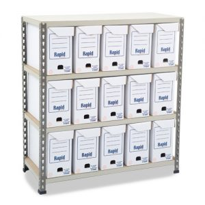 GS340 Shelving - 15 Flip Top Boxes