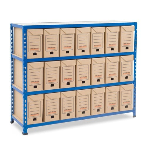 GS340 Shelving - 21 Flip Top Boxes