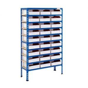 10 Shelf Cardboard Bin Bay