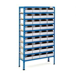 10 Shelf Cardboard Bin Bay - 36 Bins