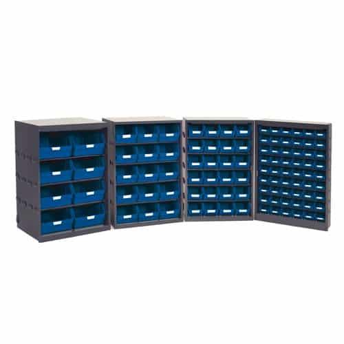 Budget Bin Cupboard with bins and labels - 54 Bins