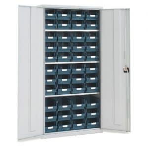 Tall Lockable Bin Cupboard with 44 x No.104 bins