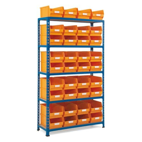 Rapid 2 Shelving (1600hx915w) - 36 picking bins