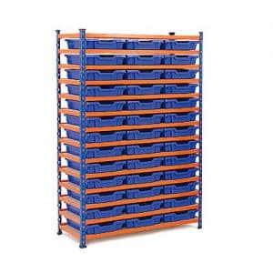 GS340 Gratnells Tray Bay - 24 Shallow Trays