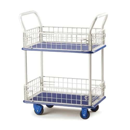 Mesh Sided Shelf Trolley
