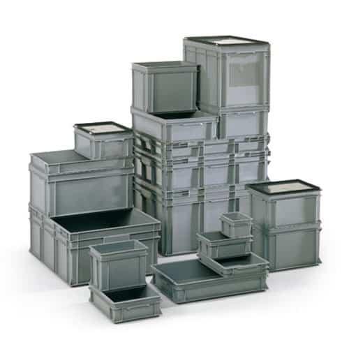 Premium Solid Euro Container Lid