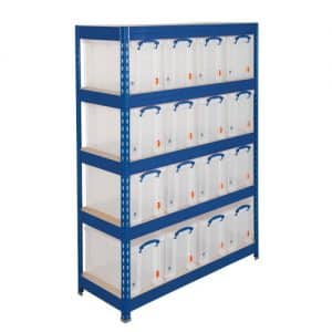 GS265 Shelving - 5 Chipboard Shelves 16 x 24 Litre Really Useful Boxes