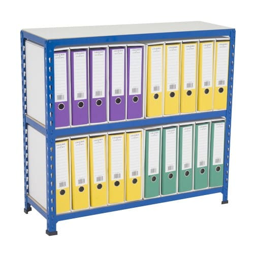 GS340 Shelving Lever Arch File Bay - Single Sided - 20 x A4 files