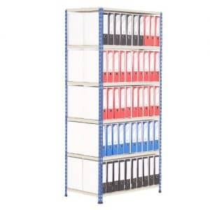 GS340 Shelving Lever Arch File Bay - Double Sided - 100 x A4 files