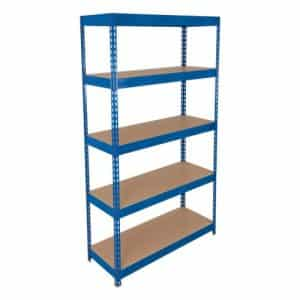 Light Duty Shelving - 5 Chipboard Shelves 1800h x 900w