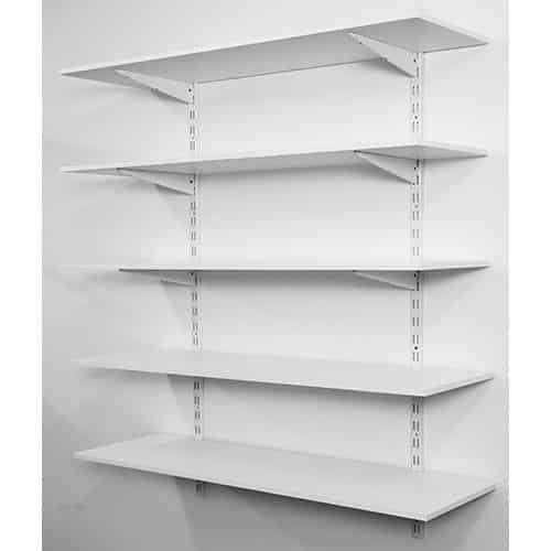 Twin Slot Shelving Kits - 1000h with 4 Shelves